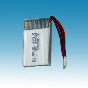 7.4V/350mAh Li-ion Polymer Battery for R/C Model