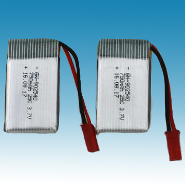 3.7V/750mAh Li-ion Polymer Battery for R/C Model