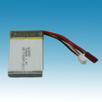 7.4V/700mAh Li-ion Polymer Battery for R/C Model
