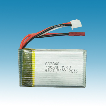 7.4V/700mAh Li-ion Polymer Battery for R/C